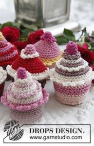 Virkade cupcakes