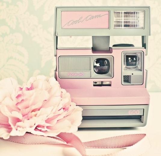 Rosa vintage kamera