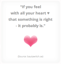 If you feel with all your heart