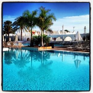 Hotellpoolen i Playa del Inglese