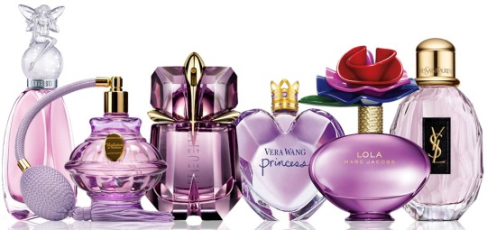 Rosa parfymflaskor