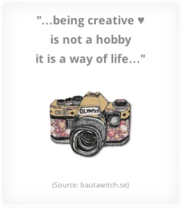 Being creative - quote