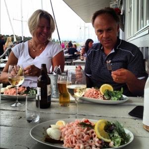 G's bror med fru i Grebbestad