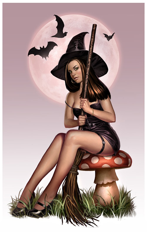 BautaWitch with broom
