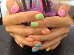 Mina färgglada naglar