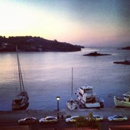 Soluppgång 06.23 på vår balkong