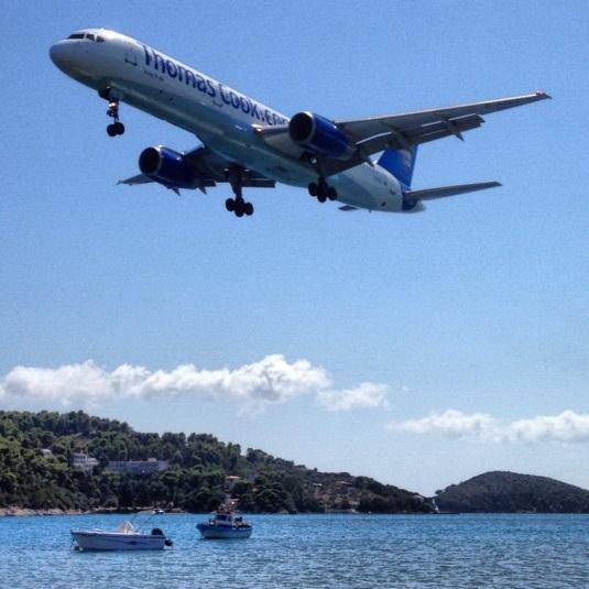 Skiathos flygplats - ej för flygrädda