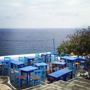 Taverna med utsikt i Skopelos stad