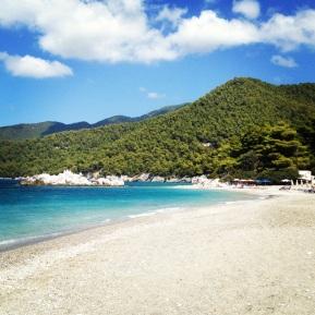 Milia - en vacker strand