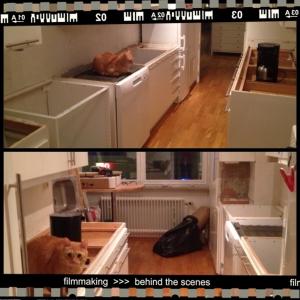 Köksrenovering pågår