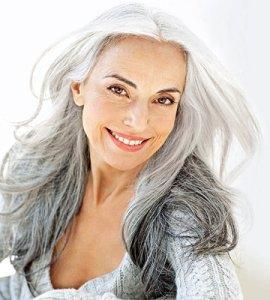 Så snygg i grått hår