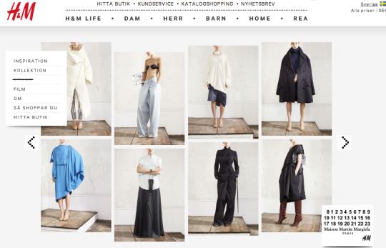 H&M i samarbete med Maison Martin Margiela