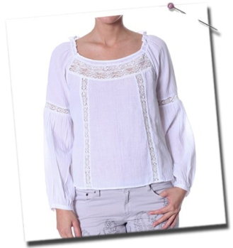 Flyweight blouse i white