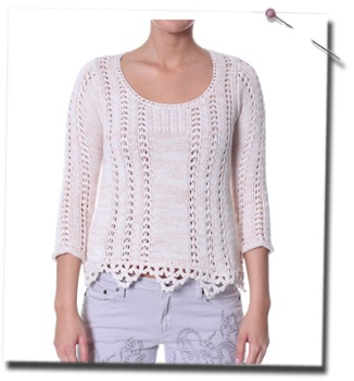 Temptation jumper i chalk