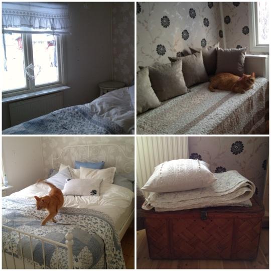 Vårt sovrum o gästrummet i storstugan