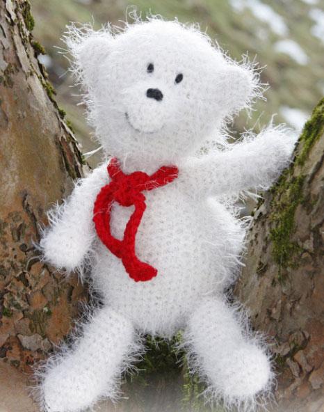 Virkad gosig isbjörn