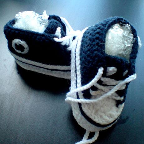 Marinblå Baby Converse