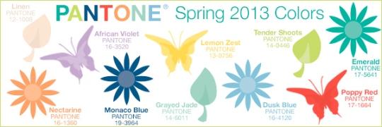 Pantone spring colors 2013