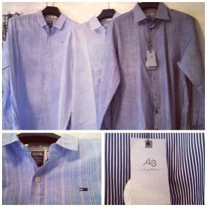 Nya blå skjortor till finaste G
