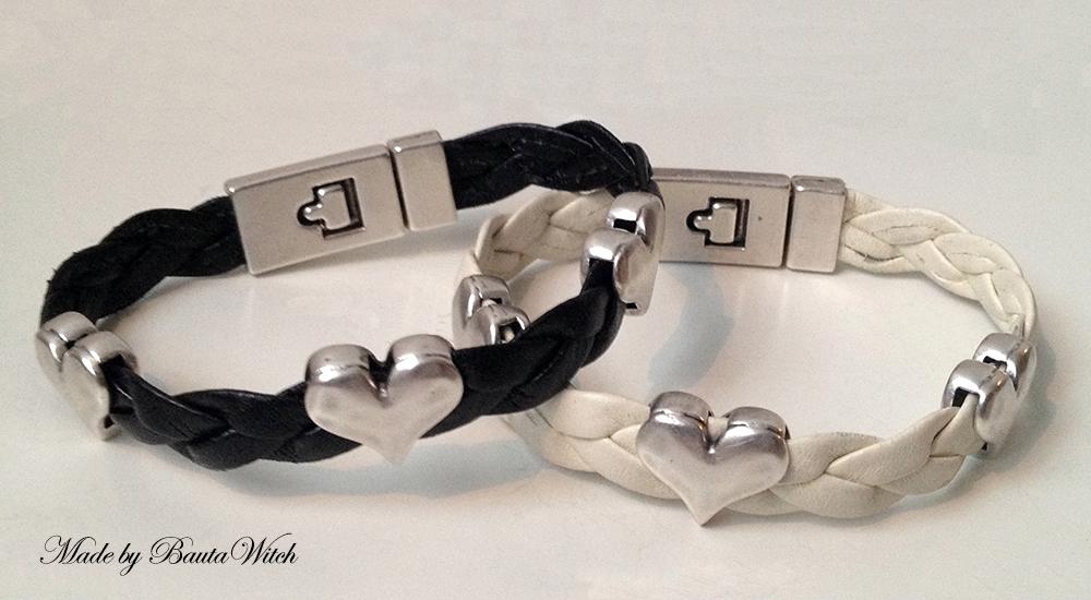 Flätade läderarmband Made by BautaWitch