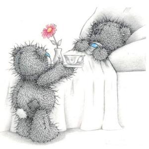 Tatty Teddy breakfast in bed