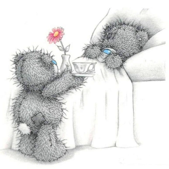 Tatty Teddy breakfast in bed