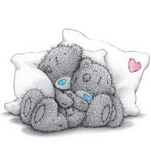 Tatty Teddy sleeping together