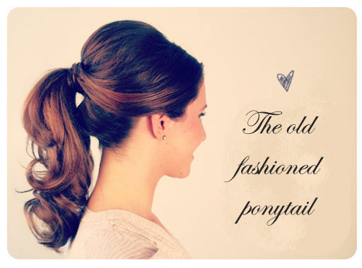 The old fashioned ponytail