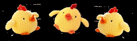 Virkade påskkycklingar