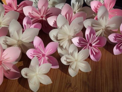 kusudama origami blommor