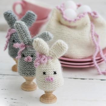 Stickade kaniner som äggvarmare