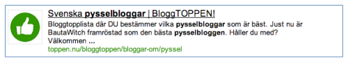 Basta-pysselblogg-Bloggtoppen