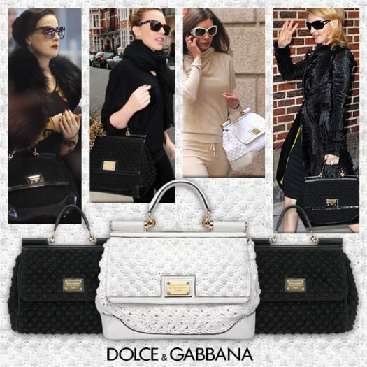 Dolce and Gabbana miss sicily crochet bag