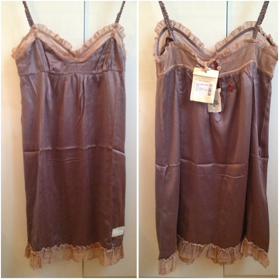 Odd Molly Rock-a-fellow silk slip dress i vintage powder