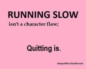 Running slow