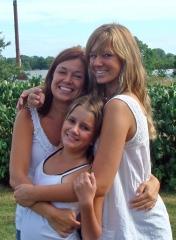 Jag o mina tjejer kram