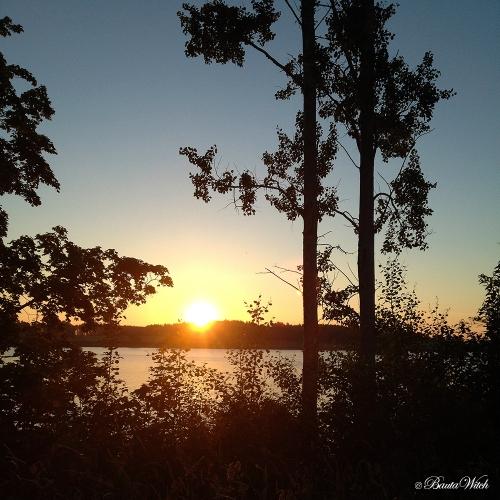 Soluppgång i Björkvik Midsommardagen