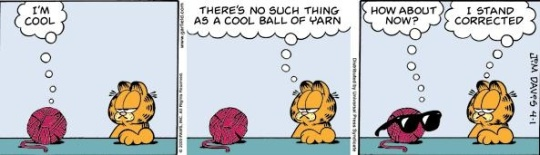 Crochet humor Garfield