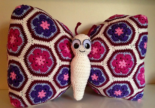 Tess the butterfly pillow