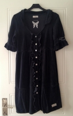 Odd Molly Velour Frill Dress i svart