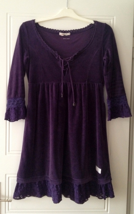 Odd Molly Velourette plain dress i lila