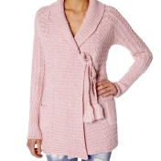Dropput cardigan rose