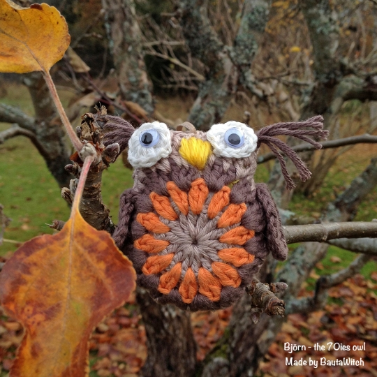 Bjorn the 70ies owl made by BautaWitch