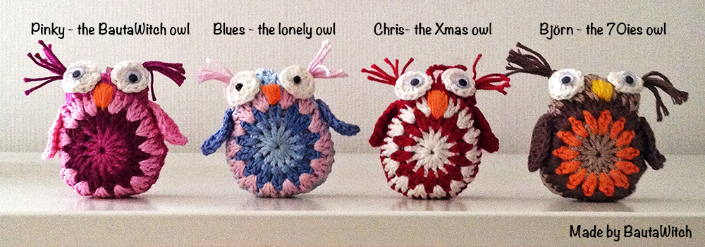 Crochet owls made by BautaWitch