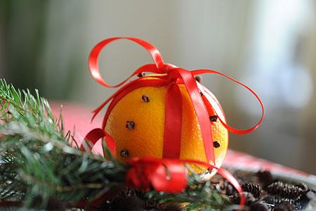 Apelsin med rott sidenband