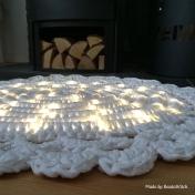 Virkad matta som lyser made by Bautawittch