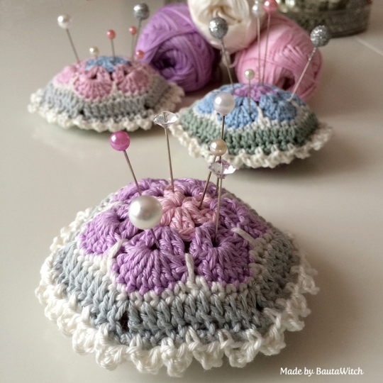 Purple-crochet-pin-cushion-by-BautaWitch