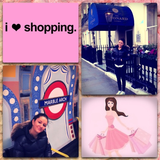 Bell loves shopping in London