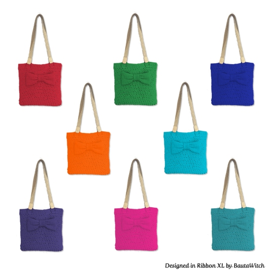 Colorful-crochet-bags-with-bow-by-BautaWitch