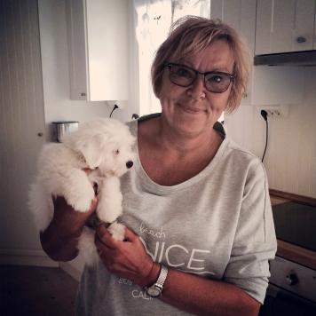 Gitte, Woofies uppfödare.